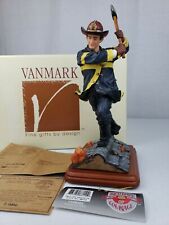 Confronting The Enemy Firefighter Figurine Vanmark Red Hats of Courage FM88110