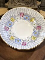 Vintage Rosina Bone China Made in England Floral replacement Saucer Gold trim