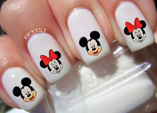 Mickey And Minnie Mouse Nail Art Stickers Transfers Decals Set of 46