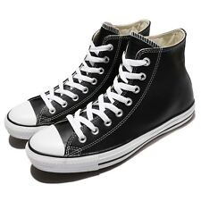 Converse Chuck Taylor All Star Hi Black Leather Men Women Sneakers Shoes 132170C