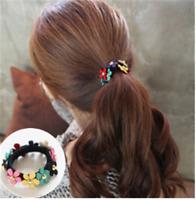 1stk. Blumen Damen Haargummi Bunt Mädchen Haarband Haarring Geburtstag Geschenk