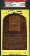 WILLIE MAYS PSA DNA COA Autograph Gold HOF Plaque Hand Signed Authentic