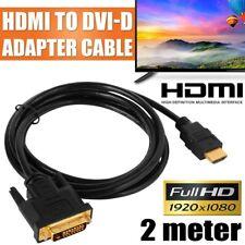 Adattatore da DVI-D dual link 24+1pin maschio a HDMI TV audio convertitore cavo