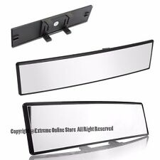240MM JDM Panoramic Convex Curve Clear Lens Wide Angle Clip On Rear View Mirror