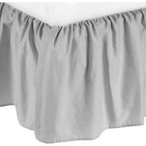 American Baby Company 100 Percent Cotton Percale Mini Crib Bed Skirt Gray  --i5-