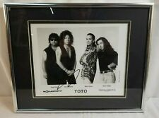 Framed 8 x 10 TOTO Photo Autographed by STEVE LUKATHER