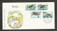 PITCAIRN ISLANDS 1986 TURTLES FDC SG,281-284 LOT 5037A