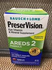 Bausch + Lomb Preservision AREDS 2 Ojo vitaminas 120 geles de suave de enero de 2020