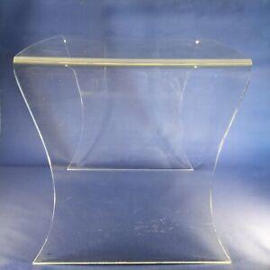 Plexiglas Tisch Beistelltisch Design Vitage 1970/80er Original Handarbeit Alt