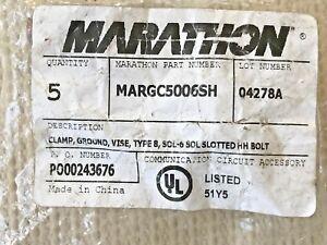 *NEW* Marathon, MARGC5006SH Ground Clamp Vise Grip Type 8 Sol. - 6 Sol.Free Ship