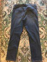 48A👖Lauren Conrad Jeans Womens Straight Leg Skinny Dark Wash Stretch - Size 12