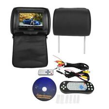 "7"" Car HD Digital Monitor Video Headrest DVD Player Game VCD USB SD MP3 FM/IR UK"