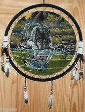 "WAR SHIELD ""REFLECTIONS"" 24"" diameter HUGE dream catcher decor Wall Hanging"