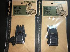 Magpul Mbus Gen2 Backup Sights Front and Rear Flip Sights-Black