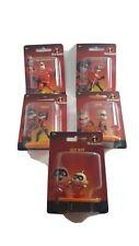Cake Topper The Incredibles set of 5 mini  Figurines Elastigirl Dash Violet Dash