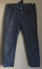 "Fabulous KSUBI ""Femme Midnight Mass"" Black & Blue Print Crop Jeans Size 26 (10)"