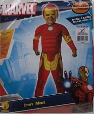 Halloween Boys Iron Man Muscle Chest Toddler Costume Size 2-4 Ages 1-2 NWT