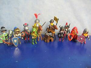 10 Ritter Waffen Pferde Figuren zu 6000 4865  3666 Ritterburg Playmobil 5602