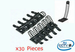 White P-Clip Car Clip Black CL2 2CM Self-Adhesive Adjustable Cable Tie Organizer
