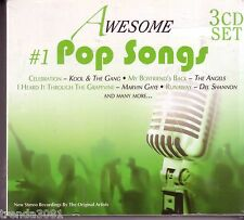 Awesome #1 Pop Songs 3CD Digipak Classic 60s 70s B.J THOMAS ARCHIES MARY WELLS