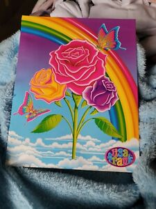 Lisa Frank Folder Rainbow Butterfly roses design