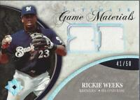 2006 Ultimate Collection Game Materials #RW Rickie Weeks Jersey /50 - NM-MT