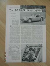 Catalogue The DAIMLER SP 250 Sports