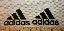 Adidas Black Iron On Vinyl Logos 2 1/4  Inches Wide 2 Patch Iron On Logo Lot