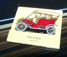 Rare Vintage Matchbook 1907 Gale Galesburg Illinois Car History 1977