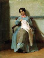 WILLIAM ADOLPHE BOUGUEREAU PORTRAIT LONIE BOUGUEREAU ART PAINTING PRINT 3105OMA