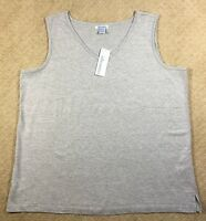 NWT Women's Silhouettes Sleeveless Knit Tank Shell Top