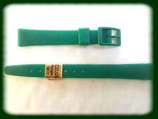 BRACELET MONTRE PVC VERT /* 12 mm MADE IN SUISSE REF.V41