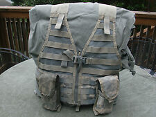 MOLLE II Fighting Load Carrier w/ 2 Double Mag Pouches FLC VEST US Army ACU