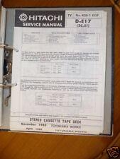 Manual de servicio para Hitachi d-e17 Unidad de cinta original