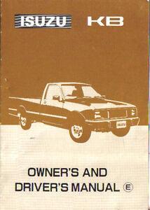 Isuzu KB Pick-Up 1986-87 Original Owners & Drivers Manual (Handbook) In English