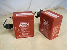 Power Wheels 6 volt RED BATTERY 00801-0712 TWO (2X) PIECES Fisher Price