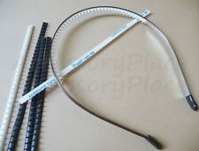 Rubber Teeth Comb Flexible No Slip, Peel and  Stick for 5mm Metal Headband 10pc