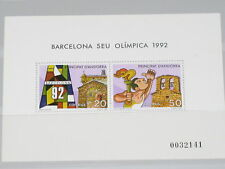 Spanish Andorra 1987 Block 2 Olympics Barcelona Sports