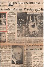 Elvis Presley Akron Beacon Journal Commemorative Newspaper 1977 Sec A+ 15-pg ins