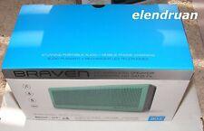 NEW BRAVEN 805 Portable HD Wireless Bluetooth Speaker Power Bank Teal / Gray