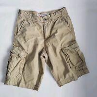 American Eagle Mens Size 28 Longboard Tan Kahki Cargo Shorts