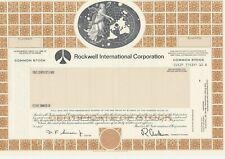 ROCKWELL INTERNATIONAL CORPORATION SPECIMEN STOCK CERTIFICATE AEROSPACE 1982
