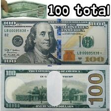 100 Pack - 100 Hundred Dollar Bill Wallets Money Bi-Fold Card Holder - US SELLER
