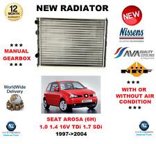 PARA SEAT AROSA 6H 1.0 1.4 16V TDi 1.7 SDi 1997->2004 RADIADOR CALIDAD OE