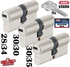 3x Zylinder Abus Schließanlage EC660 Wendeschlüssel Gleichschließend mit Karte