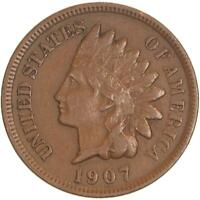 1907 Indian Head Cent Extra Fine Penny XF