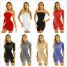 Women Mesh See-through Sheer Short Mini Dress Clubwear Evening Party Bodycon