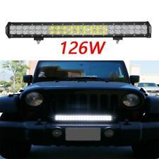 1PC 20 Inch 126W Straight LED Light Bar Combo Beam Fog Driving Light  For Pickup