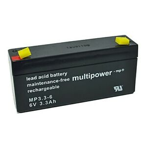 Multipower MP3.3-6 6V 3,3Ah AGM (VRLA)