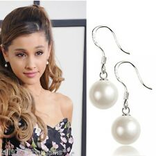 Par de Pendientes Colgantes de gota de perla estilo Ariana Grande Gota Madre Perla d2